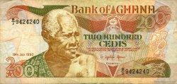 200 Cedis GHANA  1990 P.27b TTB