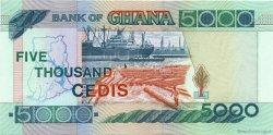 5000 Cedis GHANA  1996 P.34a NEUF