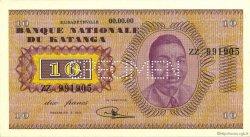10 Francs KATANGA  1960 P.05s NEUF