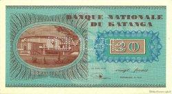 20 Francs KATANGA  1960 P.06as NEUF