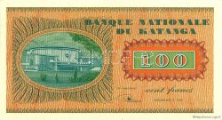 100 Francs KATANGA  1960 P.08s NEUF