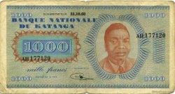1000 Francs KATANGA  1960 P.10a pr.TB
