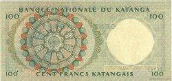 100 Francs KATANGA  1962 P.12a TTB