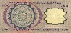 500 Francs KATANGA  1962 P.13a TTB