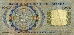 1000 Francs KATANGA  1962 P.14a TB+