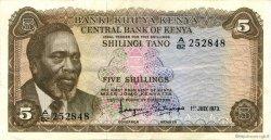 5 Shillings KENYA  1973 P.06d TTB