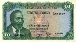 10 Shillings KENYA  1969 P.07a SUP