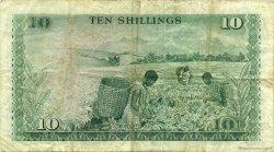 10 Shillings KENYA  1972 P.07c TB