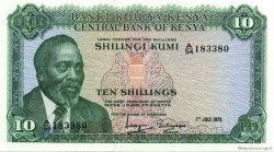 10 Shillings KENYA  1972 P.07c pr.NEUF