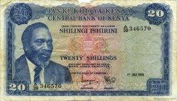 20 Shillings KENYA  1969 P.08a TB