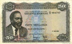 50 Shillings KENYA  1969 P.09a pr.TTB