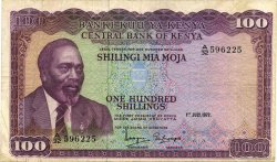 100 Shillings KENYA  1972 P.10c pr.TTB