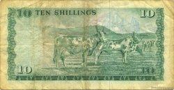 10 Shillings KENYA  1977 P.12c TB