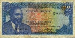20 Shillings KENYA  1975 P.13b TB