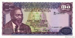 100 Shillings KENYA  1975 P.14b pr.SPL