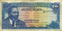 20 Shillings KENYA  1978 P.17 pr.TB