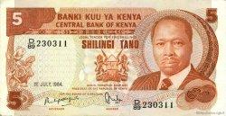 5 Shillings KENYA  1984 P.19c TTB+