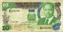 10 Shillings KENYA  1985 P.20d TB