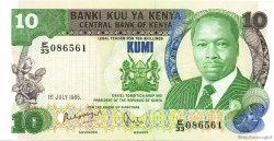 10 Shillings KENYA  1985 P.20d NEUF