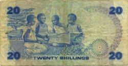 20 Shillings KENYA  1981 P.21a TB