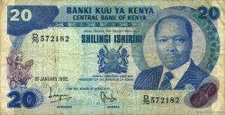 20 Shillings KENYA  1982 P.21b TB