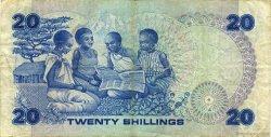 20 Shillings KENYA  1982 P.21b TTB