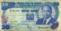 20 Shillings KENYA  1984 P.21c TB