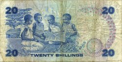 20 Shillings KENYA  1986 P.21e TB