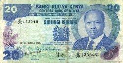 20 Shillings KENYA  1986 P.21e TTB