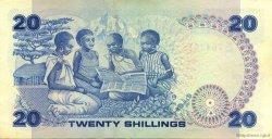 20 Shillings KENYA  1986 P.21e SUP