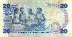 20 Shillings KENYA  1987 P.21f TTB