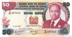 50 Shillings KENYA  1987 P.22d NEUF