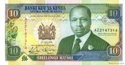 10 Shillings KENYA  1993 P.24e SUP