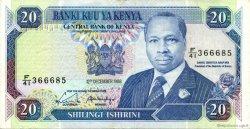 20 Shillings KENYA  1988 P.25a TTB+