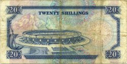 20 Shillings KENYA  1989 P.25b TB