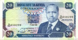 20 Shillings KENYA  1991 P.25d TTB+