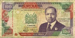 100 Shillings KENYA  1992 P.27d B+
