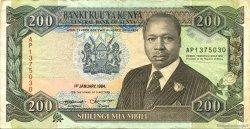 200 Shillings KENYA  1994 P.29f TTB