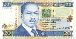 20 Shillings KENYA  1996 P.35a SUP