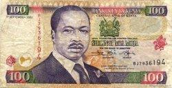 100 Shillings KENYA  2002 P.37g TB+