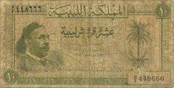 10 Piastres LIBYE  1952 P.13 AB