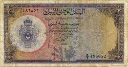 1/2 Pound LIBYE  1959 P.19a B à TB