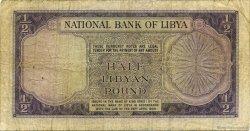 1/2 Pound LIBYE  1959 P.19b B à TB