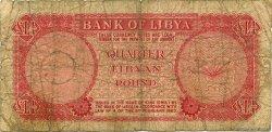 1/4 Pound LIBYE  1963 P.23a AB