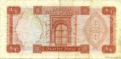 1/4 Dinar LIBYE  1972 P.33b TB
