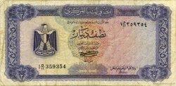 1/2 Dinar LIBYE  1972 P.34b TB+