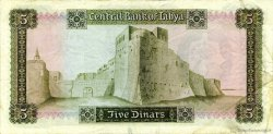 5 Dinars LIBYE  1972 P.36b TTB+