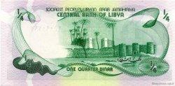 1/4 Dinar LIBYE  1981 P.42Aa NEUF