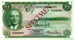 1 Pound MALAWI  1964 P.03s NEUF