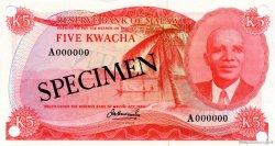 5 Kwacha MALAWI  1973 P.11s NEUF